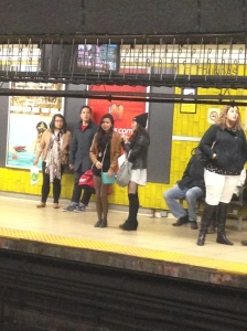 Spotted: Lisa & Kristina at the Subway Station #WritingAsThoughImFamous