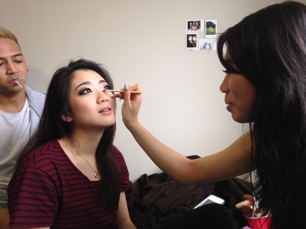 My makeup artist <3