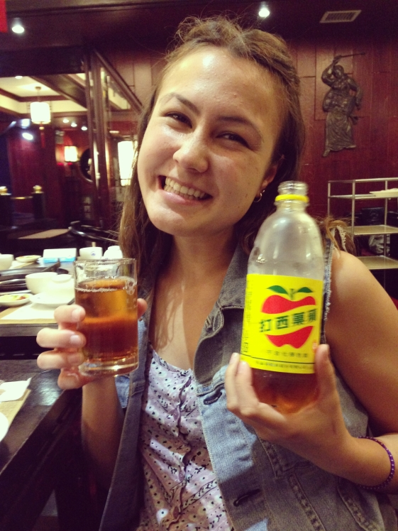 showing Maria my favourite soft drink in the world.