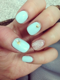 nails did #TiffanyBlue