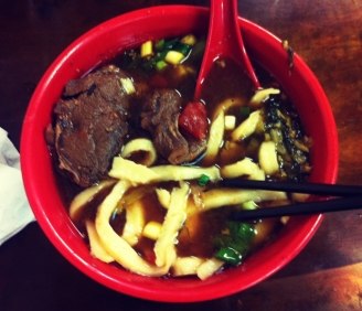 Beef noodle soup!! you gotta have this when you're in Taiwan