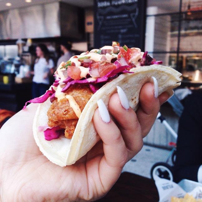 close-up of my fish taco :')